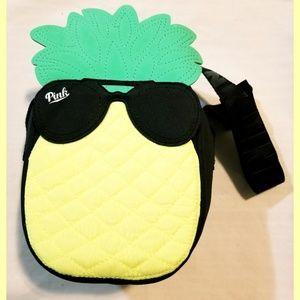 Victoria's Secret Pineapple Cooler Tote Bag Black